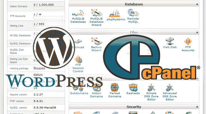 cPanel WordPress Install Step by Step Header